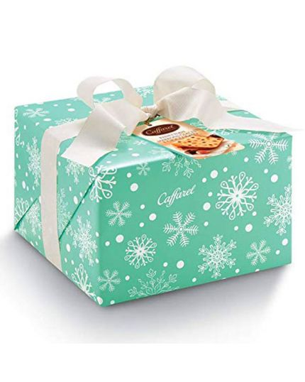 Panettone Marrons Glaces e Cioccolato in Pacco Regalo Caffrel 1 Kg