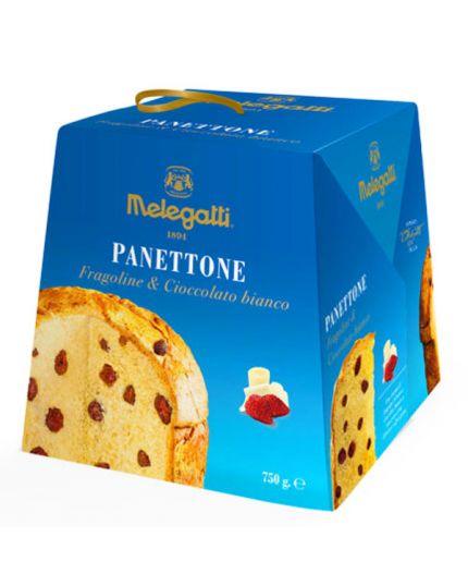 Panettone Fragoline e Cioccolato Bianco Melegatti 750gr