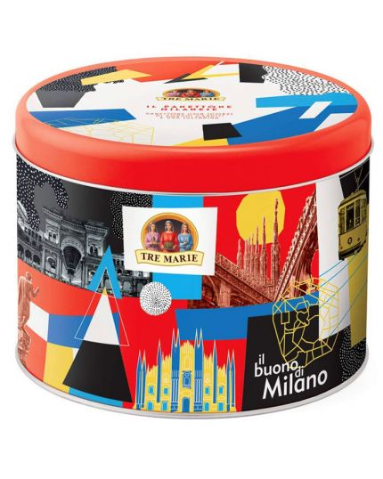 Panettone Milanese in Latta Pop Art Tre Marie 750gr