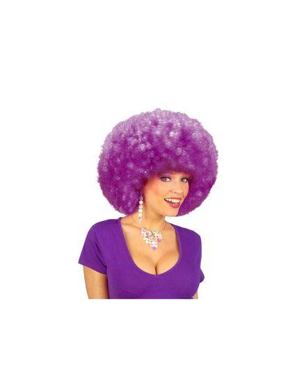 Parrucca Afro Riccia Viola