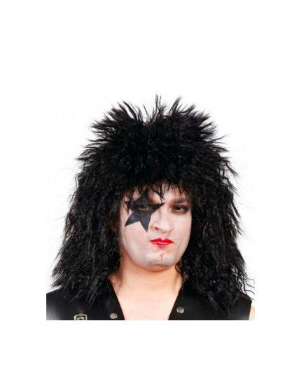 Parrucca Nera Kiss Rockstar