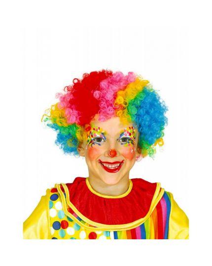 Parrucca Pagliaccio Riccia Multicolor Bambino