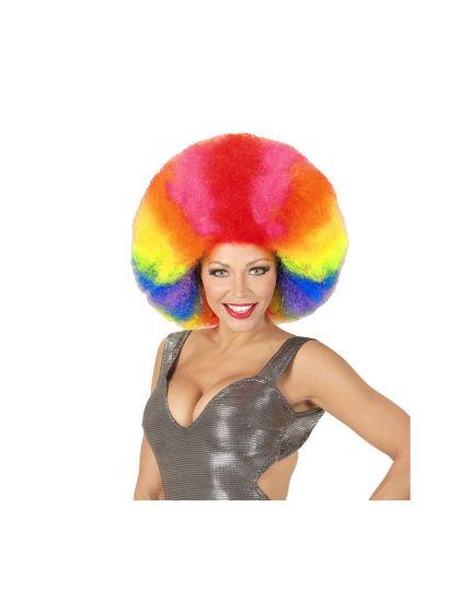 Parrucca Riccia Afro Multicolor