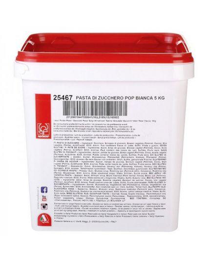 Pasta di Zucchero Elite Bianca Modecor Maxi Formato 5 Kg