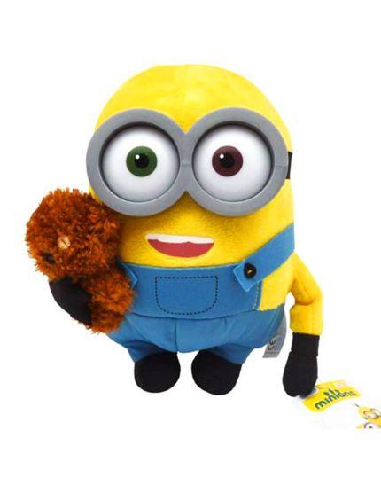 Peluche Minion Cattivissimo Me Bob con Orsetto 30 cm