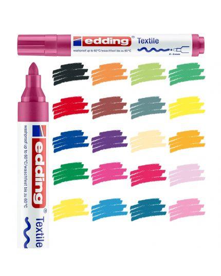 Pennarello Colorato per Tessuto Edding Textil 2-3mm
