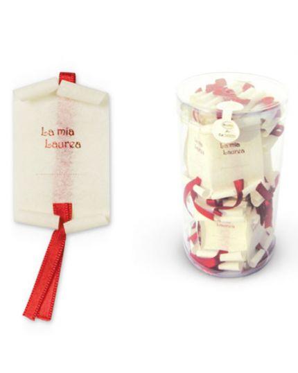 10 Mini Pergamene La Mia Laurea con Nastro Rosso 6,5x3,8cm