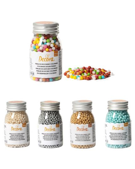 Decorazioni Zucchero Perline Colorate Decora 0,5cm