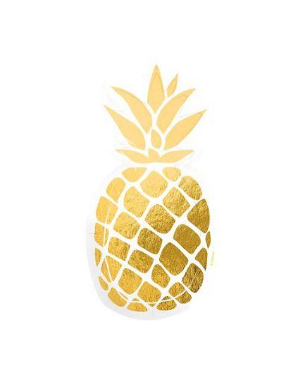 Piatti Carta Sagoma Ananas