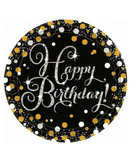 Piatti Carta Happy Birthday Sparkling
