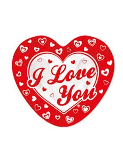 Piatti Carta Cuore I Love You