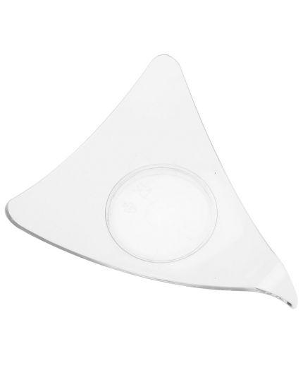 Mini Piatti Coppette Triangolari Pvc Trasparente per Finger Food 9,5x9,5x7,7cm 50pz