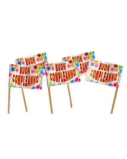 Picks Bandierine Buon Compleanno Stelle Multicolor