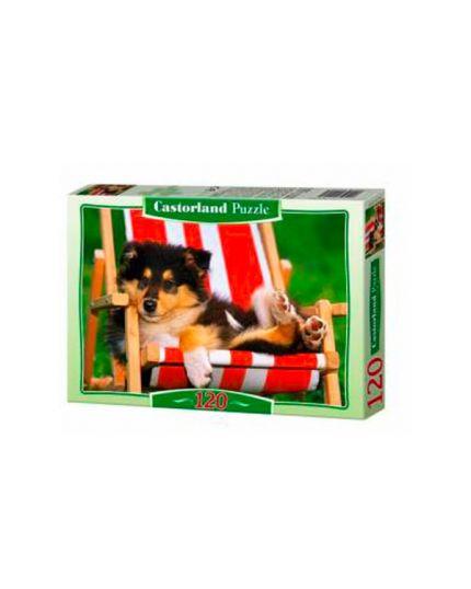 Puzzle Cucciolo Collie 120 Pezzi 32x23 Cm