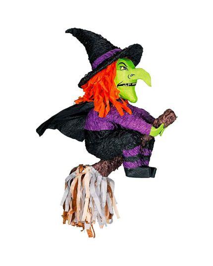 Pignatta Halloween Strega su Scopa 51x51x28cm
