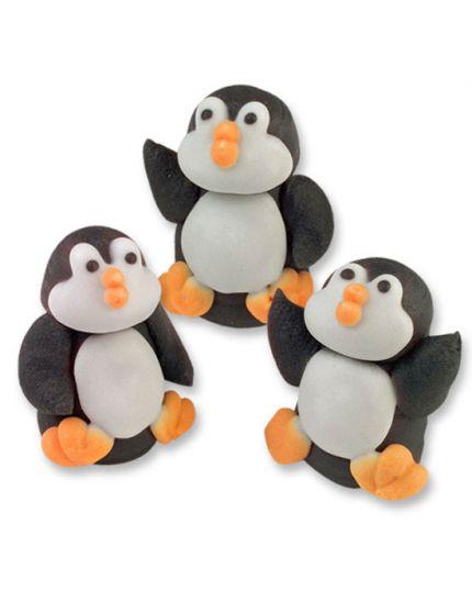 3 Pinguini in Zucchero 3D 2,4cm
