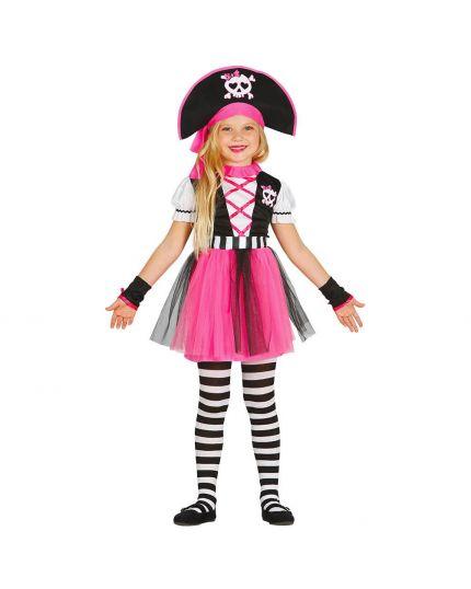 Costume Piratessa Rosa Bambina