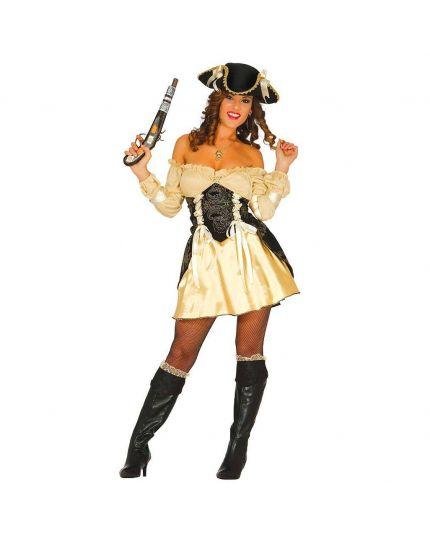 Costume Piratessa Oro Donna