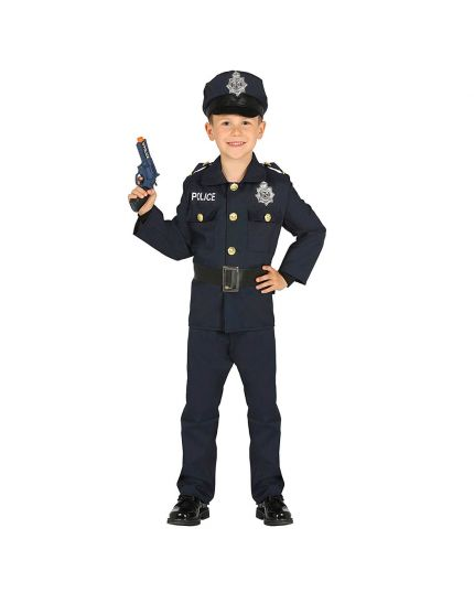 Costume Tuta Polizia Bambino o Bambina