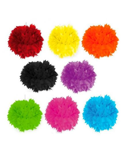 Sfere Carta Fluffy Colorate 40cm