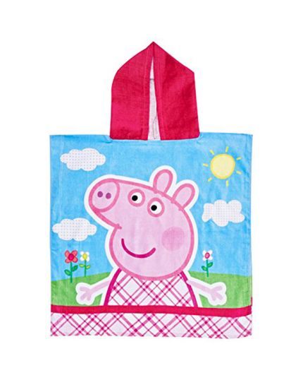 Poncho Asciugamano da Mare Peppa Pig 60x120cm