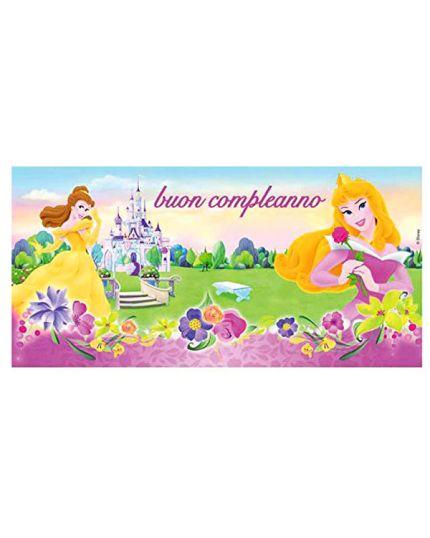 Poster Pvc Principesse Disney Buon Compleanno
