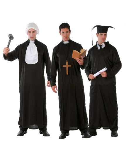 Costume Tunica Multiuso Prete Studente Giudice