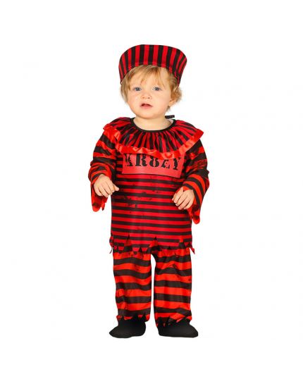 Costume Clown Horror Rosso Baby