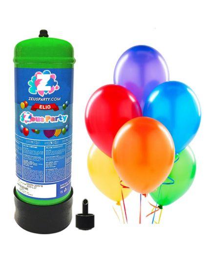 Bombola Gas Elio per 30 Palloncini con 30 Palloncini Omaggio