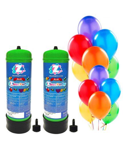 Kit 2 Bombole Gas Elio per 60 Palloncini con 60 Palloncini Omaggio