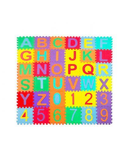 Tappetino Puzzle In Gomma Con Lettere 10 Pezzi