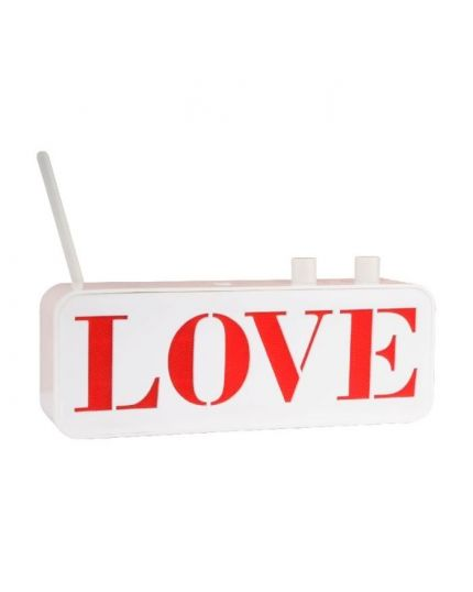 Radio Portatile Design Scritta Love 23cm