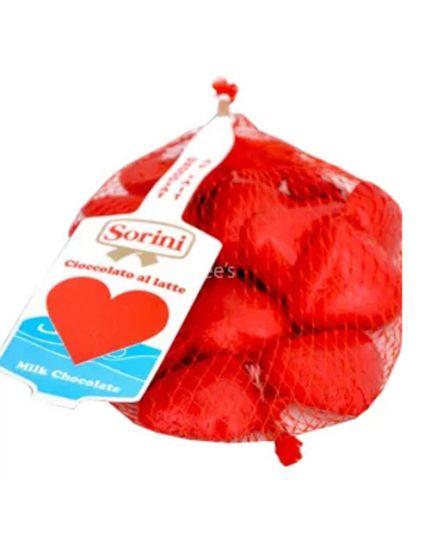 Retina Cioccolatini Forma Cuore Rosso Sorini 100gr