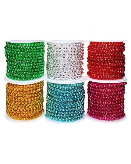 Rotolo Bobina Filo di Perle Colorate 0,8cm 10 Metri