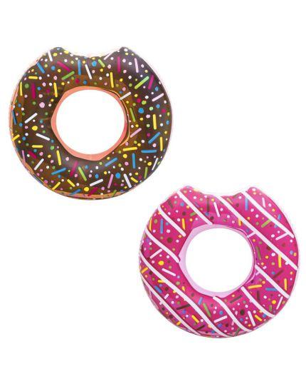 Salvagente Gonfiabile Ciambella Donut Morsicata 2 Colori 107cm