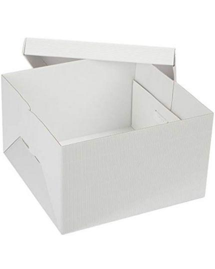 Scatola Rigida Quadrata in Carta per Torte con Coperchio Varie Dimensioni Decora
