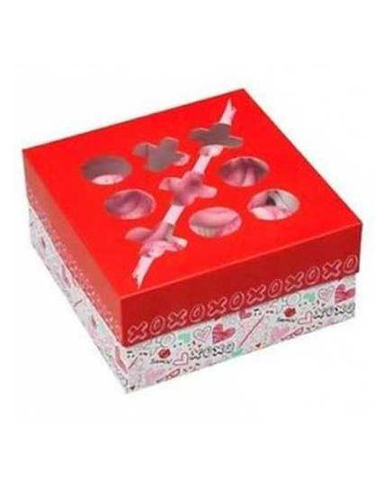 Set Tre Scatole per Cupcake Love Wilton con Stickers 15,8x15,8x7,6cm
