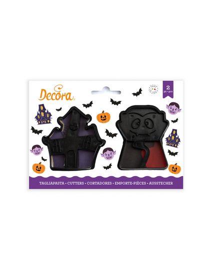 Tagliabiscotti Soggetti Halloween Casa e Vampiro