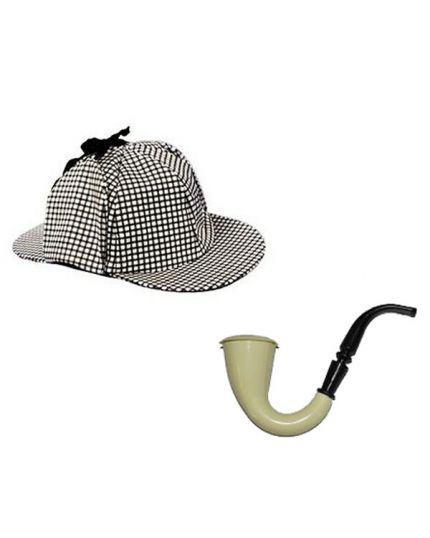 Set Investigatore Cappello e Pipa