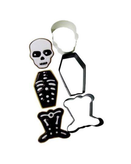 Set Tagliabiscotti Halloween Scheletro