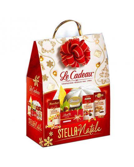 Cesto Natalizio Shopper Stella di Natale 5 Pezzi
