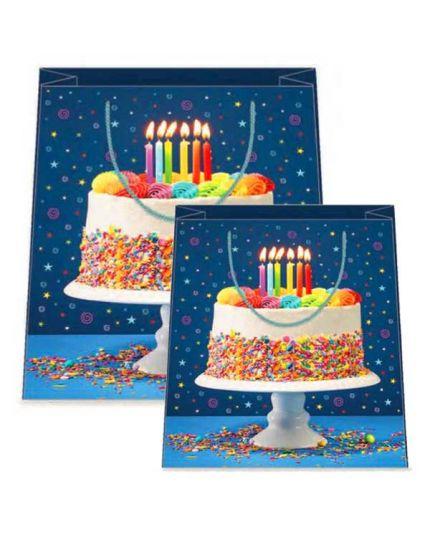 Busta Shopper Torta di Compleanno Realistica  - Varie Dimensioni