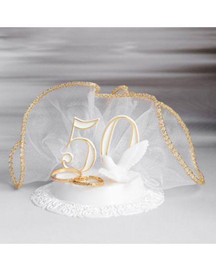 Sopratorta Pvc 50° Anniversario Nozze Oro