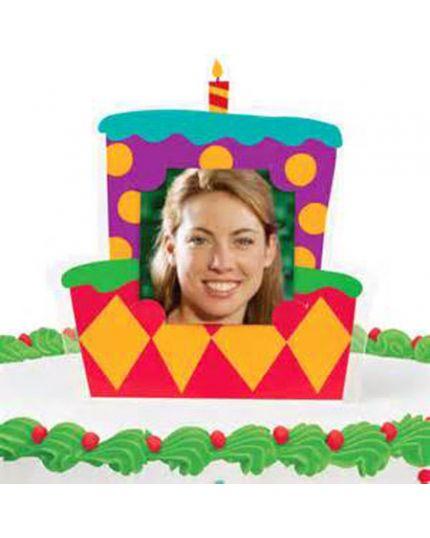 Sopratorta Cake Topper Pvc Portafoto Torta di Compleanno 11cm
