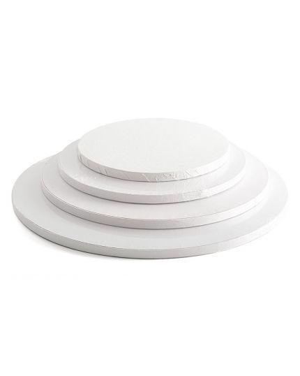 Sottotorta Rotondo Cartone Bianco Decora Varie Dimensioni