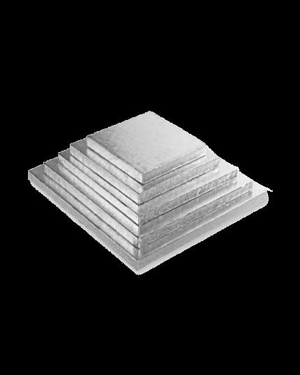 Sottotorta Quadrato8011684024437 Cartone Argentato Graziano Varie Dimensioni