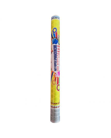 Tubo Sparacoriandoli Buon Compleanno Cerchi Multicolor 60cm