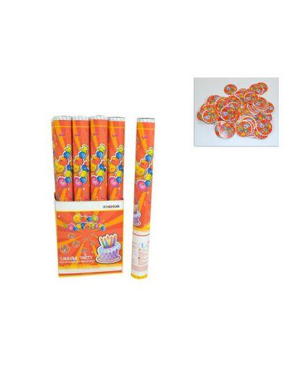 Tubo Sparacoriandoli Buon Compleanno Monocolore 58cm