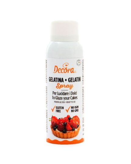 Gelatina Spray Lucidante per Alimenti Decora 125ml