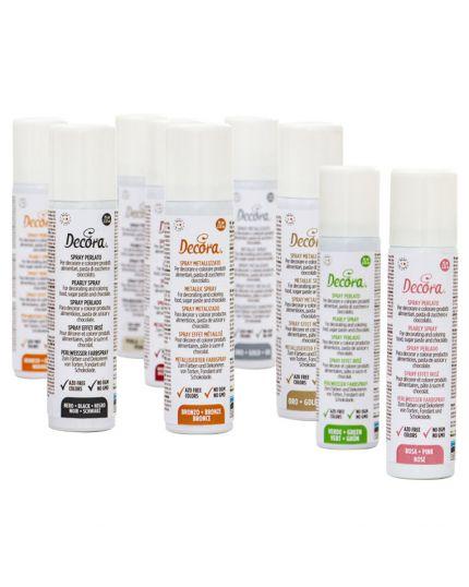 Spray Colorante per Alimenti Colori Perlati Decora 75ml